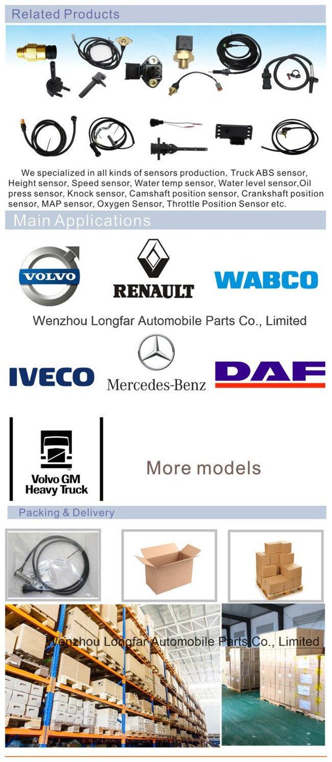 Auto Truck ABS Sensor Anti-Lock Braking System Transducer Indicator Sensor 5010422022, 6.61903, 0486000072000, 85-50520-Sx, 096.359, 75720 for Renault, Dt