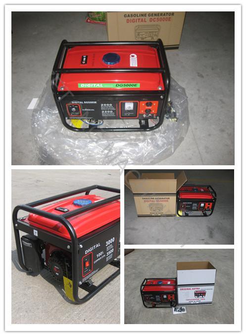 2kVA Engine 6.5HP Electric Start Portable Gasoline Generator (Set)