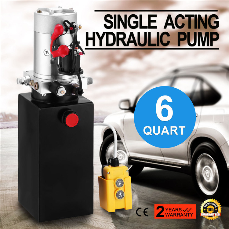 6litre Steel Reservoir Single Acting 12V Hydraulic Pump Power Unit
