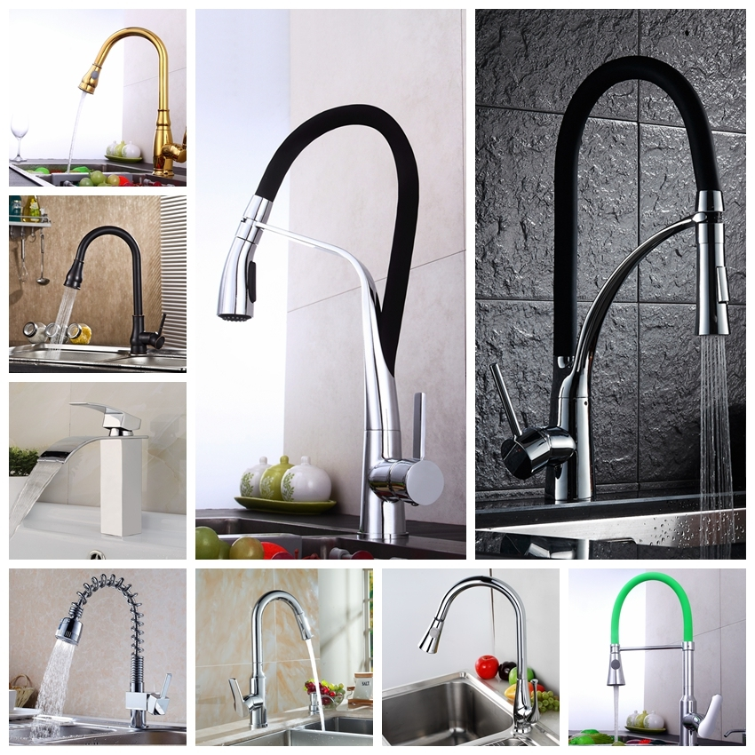 New Arrival High Quality Single Handle Pull-out Sink Brass Water Faucet 3 Ways Kitchen Mixer Tap