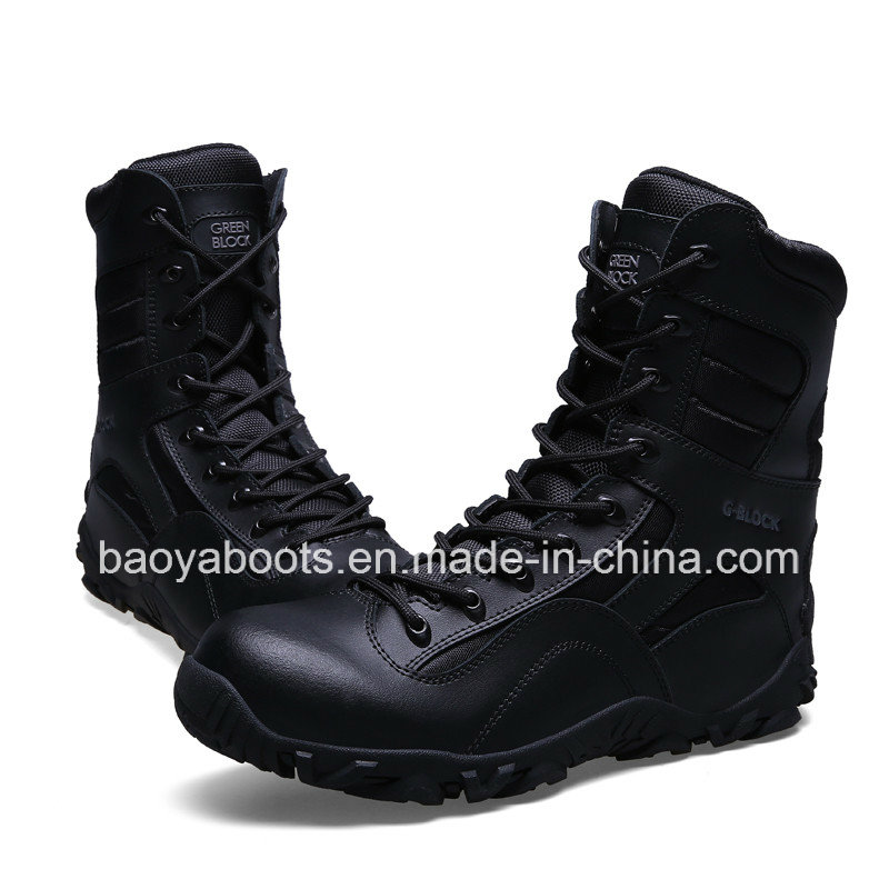 New Design Genuine Leather Military Combat Boots Police Tactical Boots (31004)