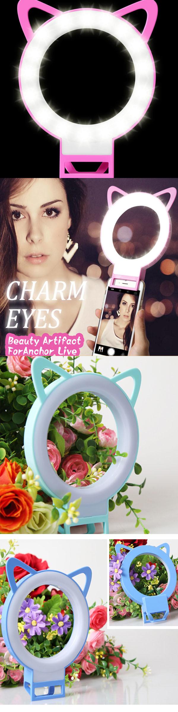 Selfie Portable LED Ring Flash Light Night Shot Light for Phone