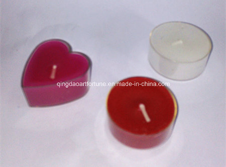 Clear Cup Unscented Tealight Candle with 4hour Burning Time