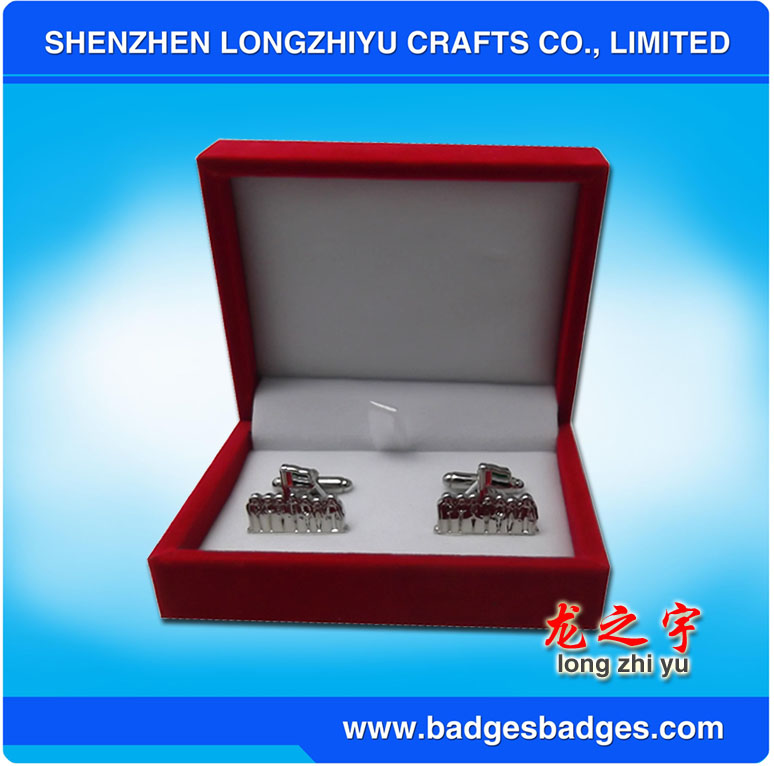 Elegant Design Cuff Links with Customer's Logo Design Printing Cufflinks Set