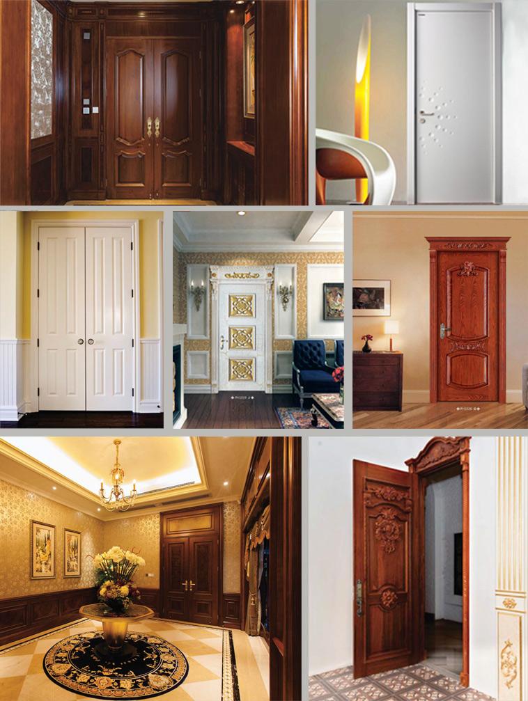 Natural Oak Veneer Interior Flush Door for Hotel Project