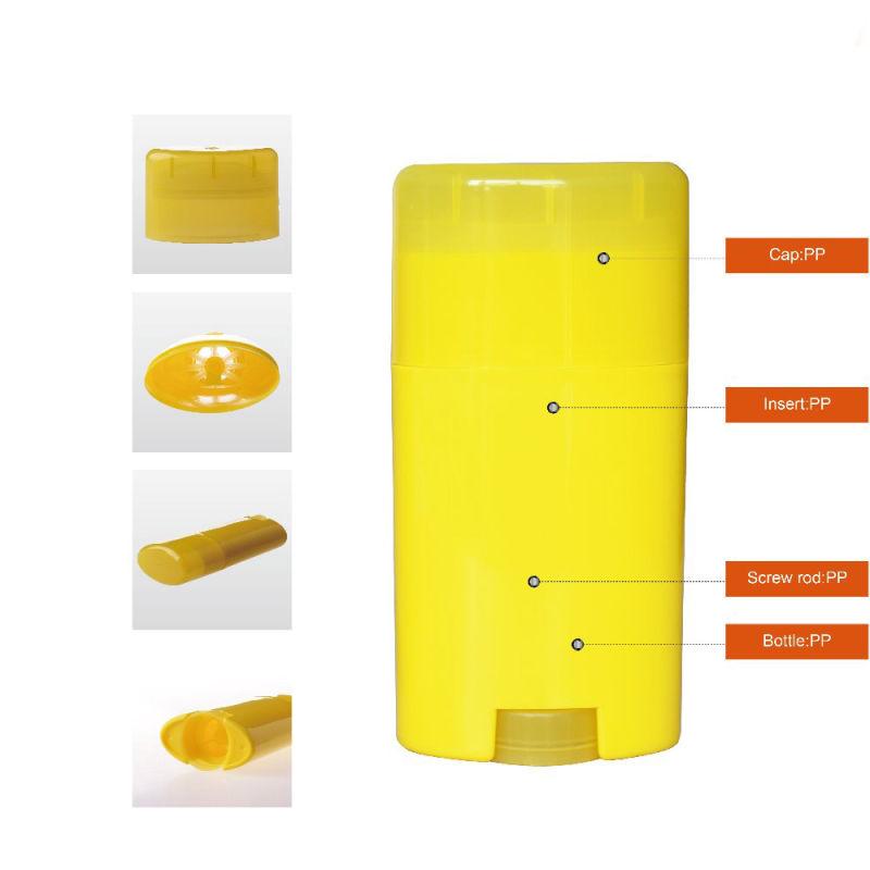 50ml Empty Gel Deodorant Stick Container