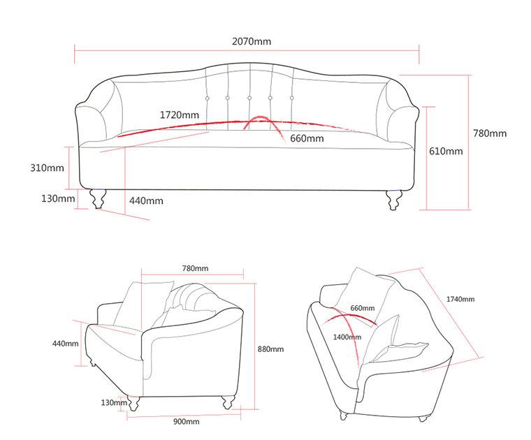 New Arrival Fabric Sofa, Home Furniture, Simple Design Sofa (M615)