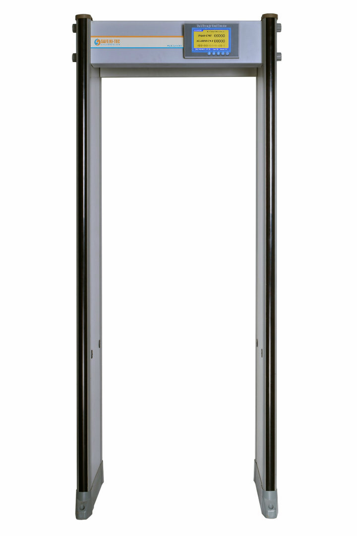 33 Pinpoint Zones Weatherproof IP65 Walk Through Gate Security Body Scanner Metal Detector SA300S