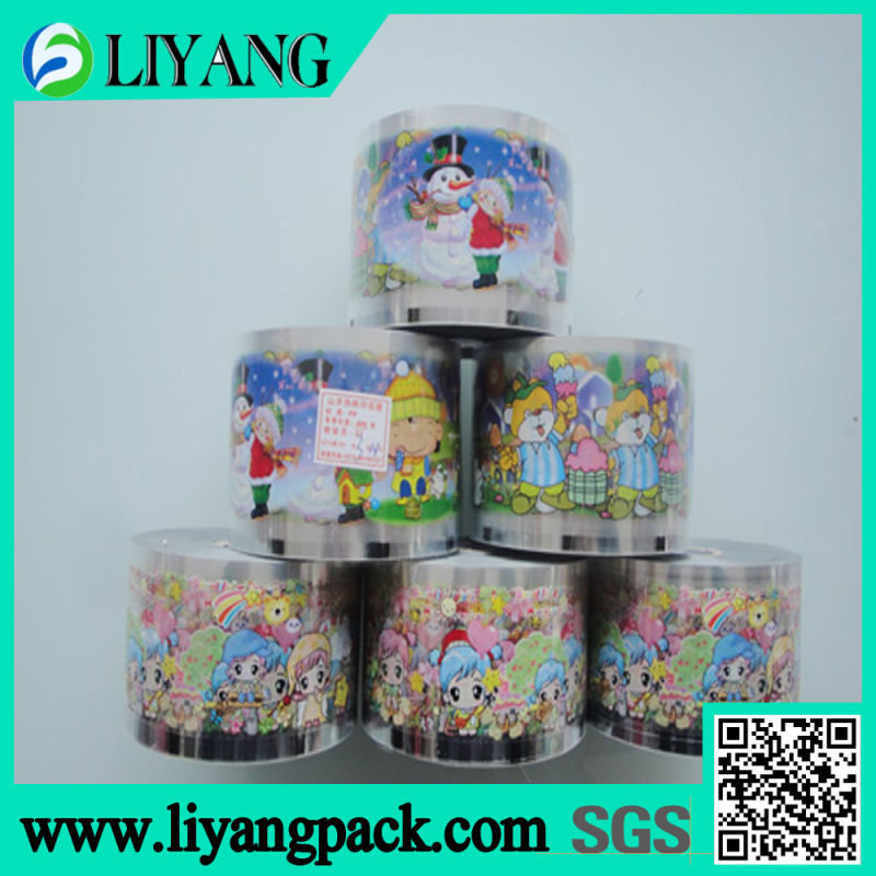 Color Flower Suitable for Bottom Color, Heat Transfer Film for Plastic Cup