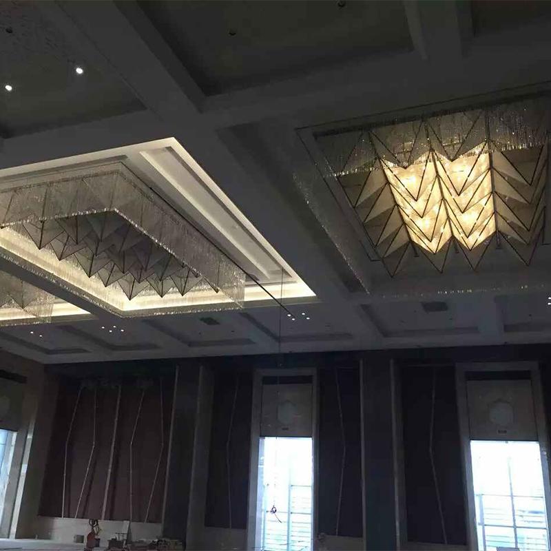 Modern Design Crystal Chandelier for Hotel Project