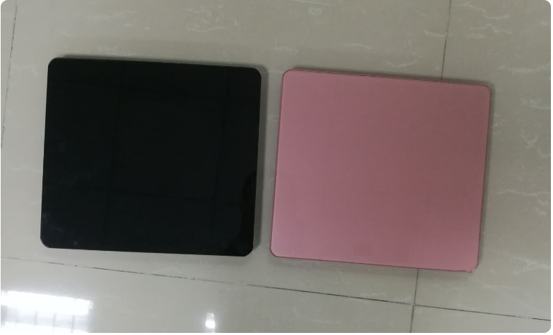 Latest Bathroom Scale Electronic Scale Without LCD Screen, Platform Glass Silk Print Color Can Customized Ce, RoHS, FCC Approved Inner 2 AAA Batteries