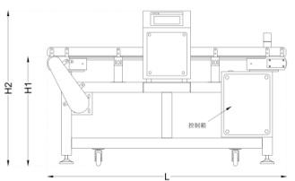 Waterproof Standard Chain Conveyor Metal Detector for Food