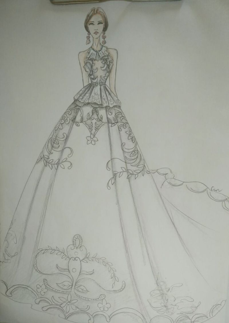High Collar Satin Black Mermaid Evening Dress