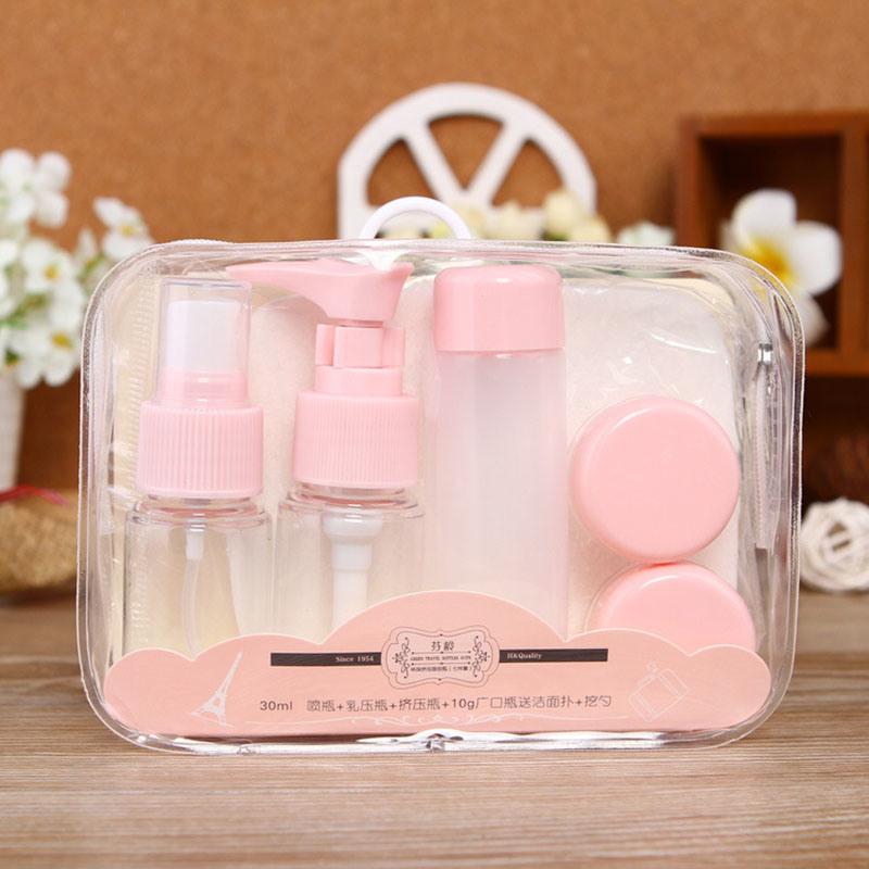 Plastic Travel Set, Pump Sprayer Bottle and Plastic Jar (PT09)
