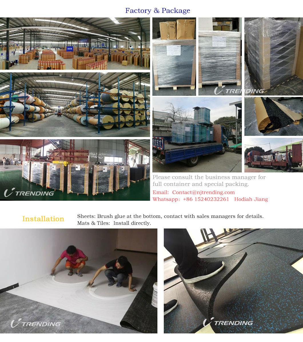 Indoor Interlocking Rubber Gym Floor Mat Tiles