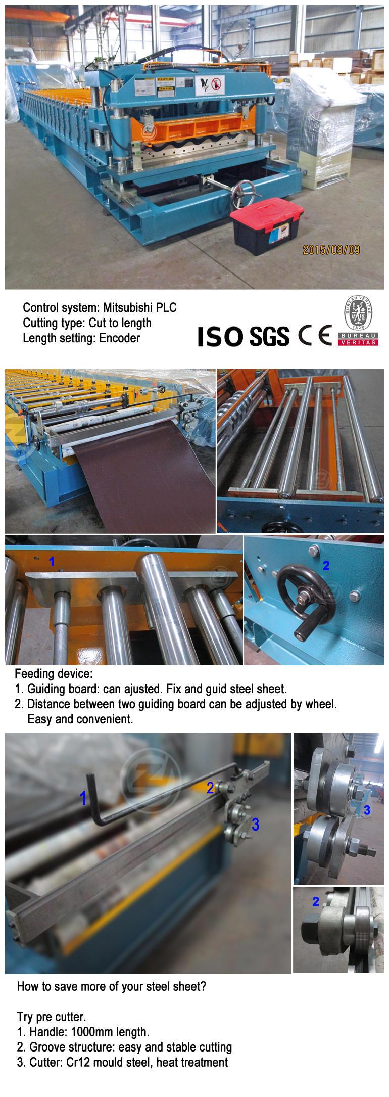 Glazed Tile Roll Forming Making Machine