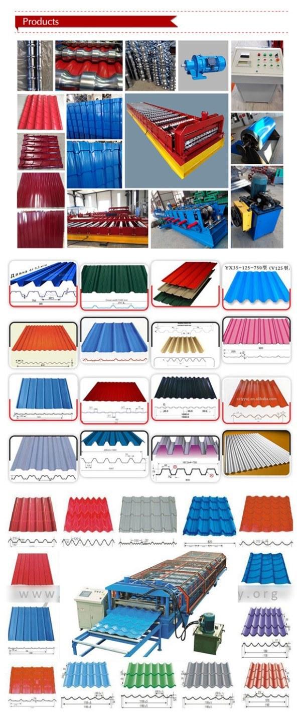 Automatic Roofing Steel Metal Floor Tile Roll Forming Machine