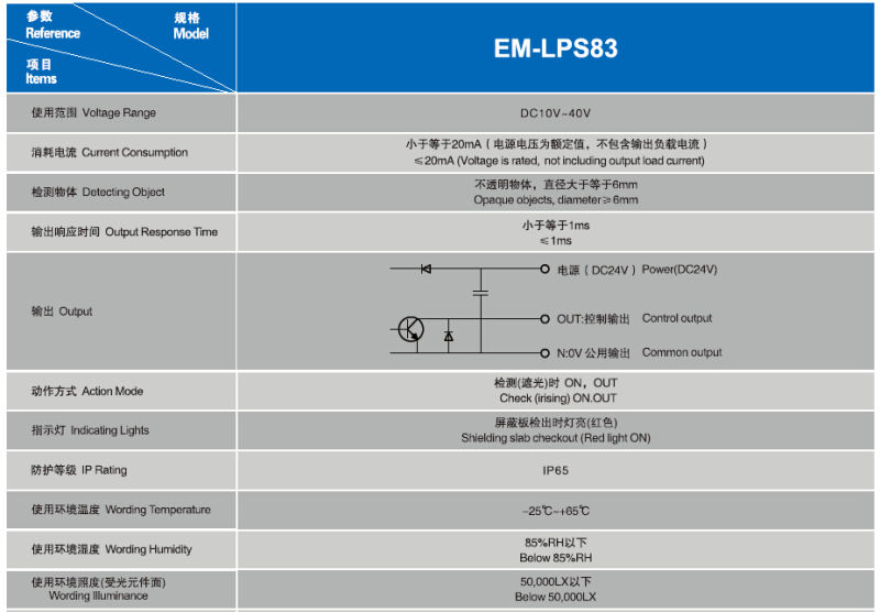 Elevator Photoelectric Levelling Switch (EM-LPS83)