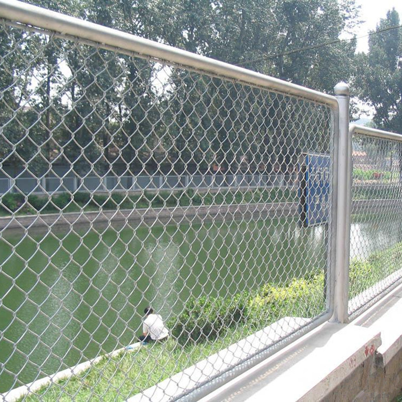 PVC Coated Chain Link Wire Mesh Fence