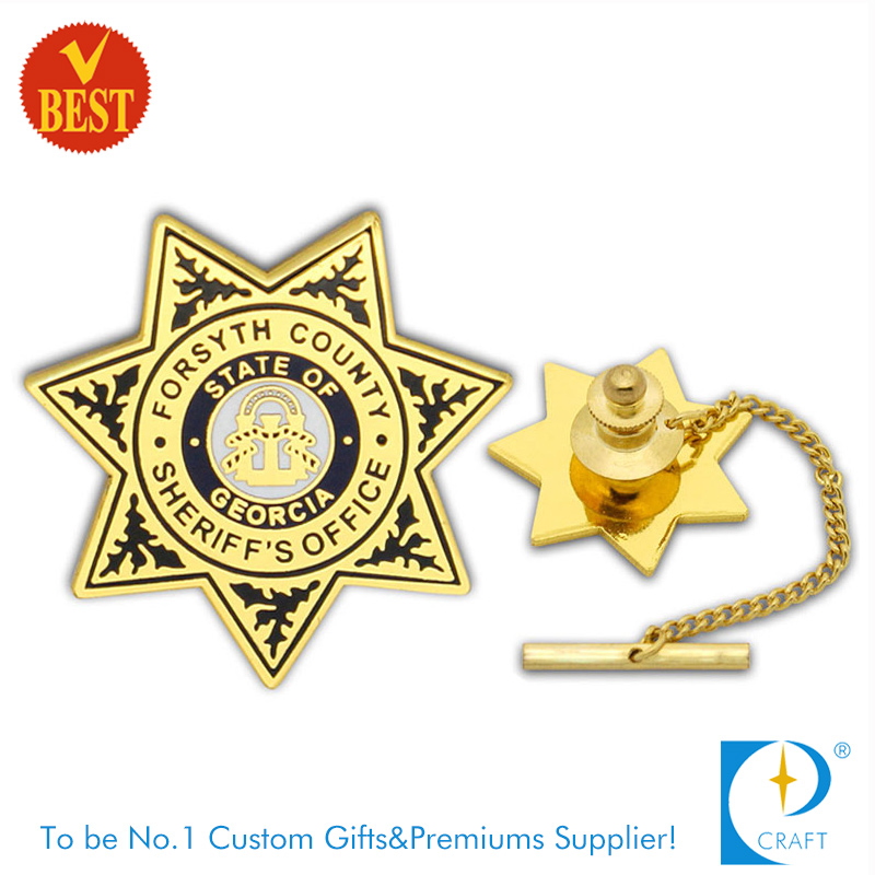 China Factory Supply Custom Enamel Color Metal Pin Badge (KD-753)