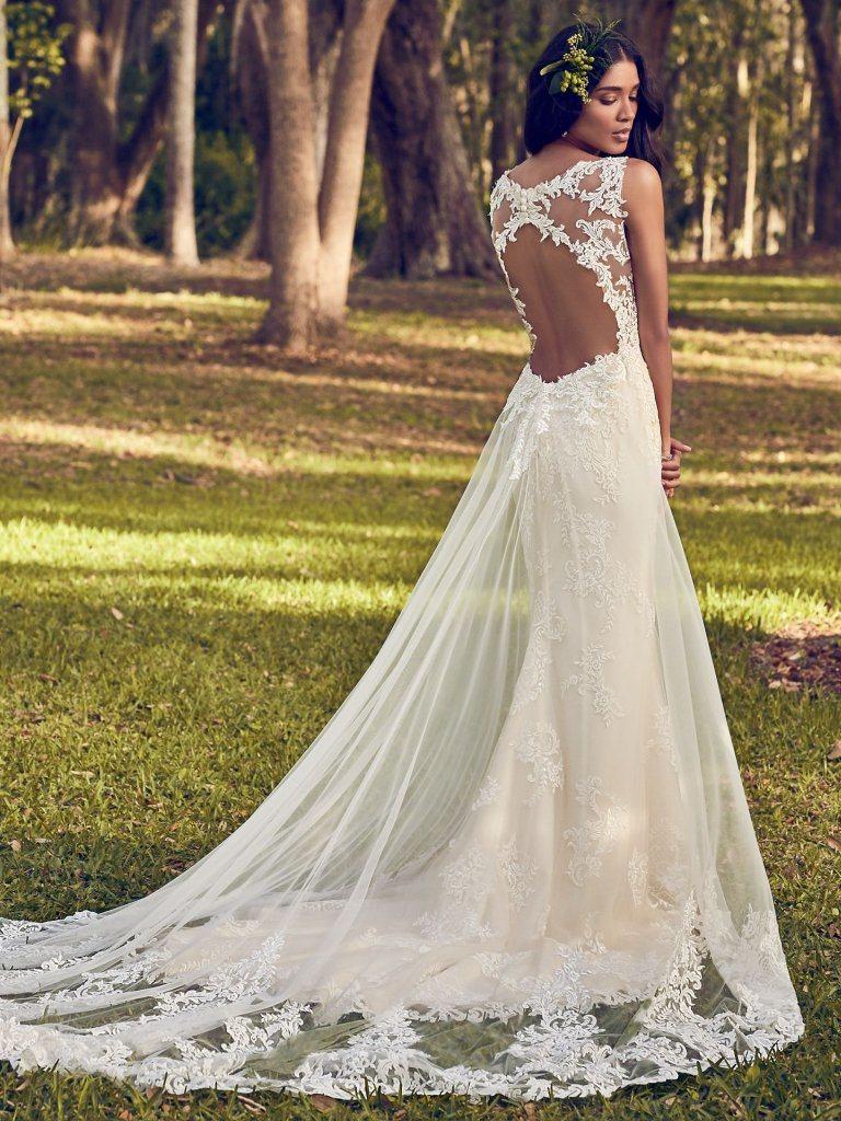 Sleeveless Bridal Gowns Mermaid Lace Beads Wedding Dresses Mz499