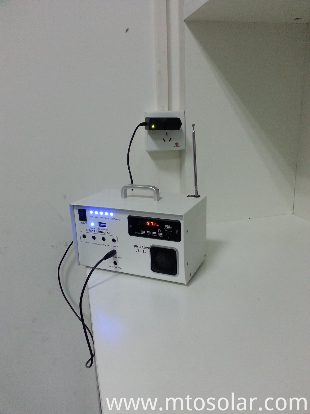 solar product with LED light and Radio