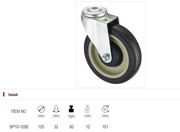 Shopping Cart Caster - 5 in. PU Wheel