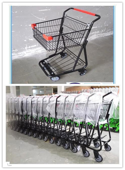 Hot Sale Single Basket Shopping Trolleys with Good Design