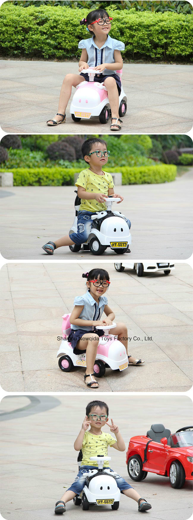 En71 Plastic Scooter Swing Car for Girls and Boys Kids Toy