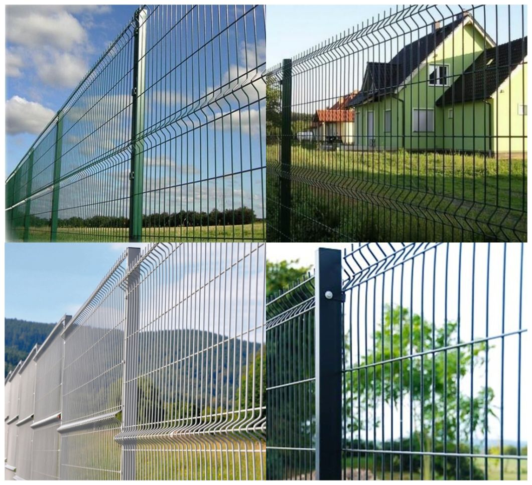 PVC Powder Coated Triangle Bend 3D Welded Wire Mesh Fence Sale