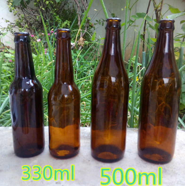 330ml/500ml/650ml/750ml Brown Wine Bottle, Glass Beer Bottle