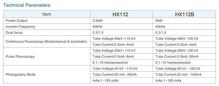 Hx112b High Frequency Mobile C Arm X-ray Machine