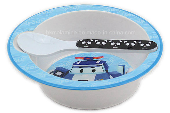 Melamine Kids Bowl Set with Spoon (BW7010)