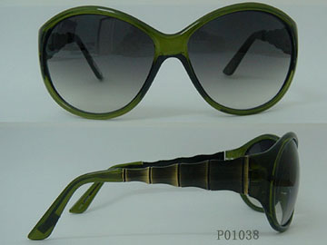 Fashion Acetate&Metal Sunglasses P01038