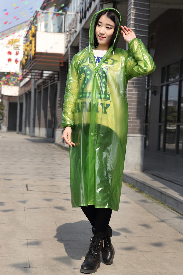 Wholesale PE/PVC Waterproof Transparent Disposable Raincoat