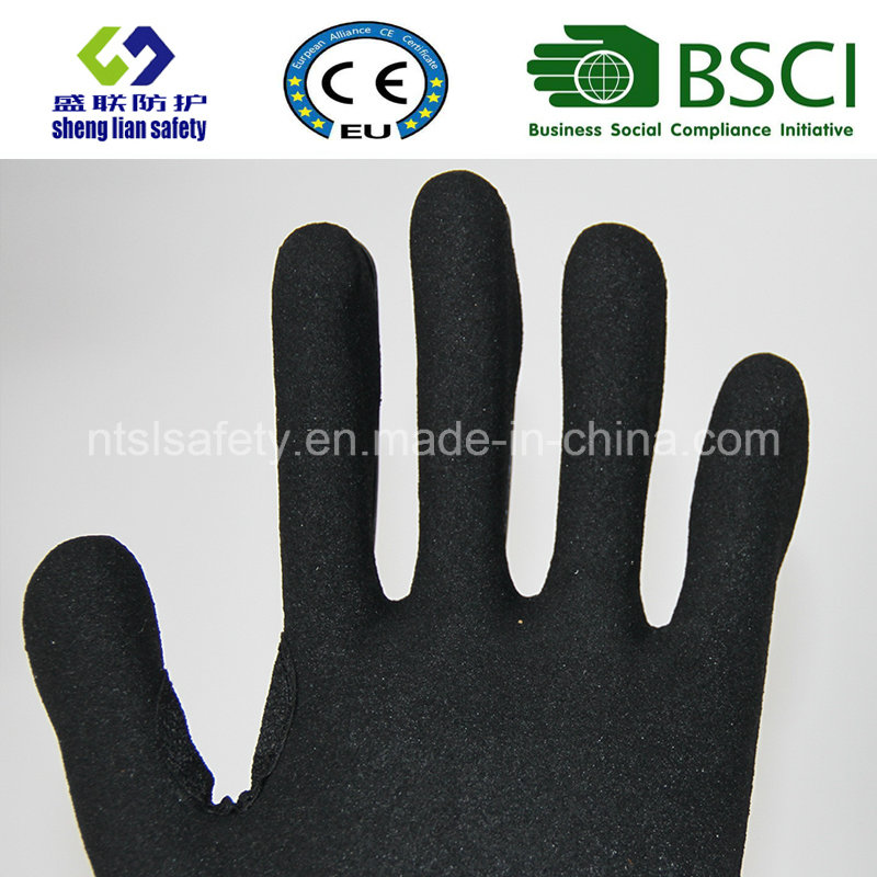 Cut Resistant Safety Work Gloves with Sandy Nitrile Coating