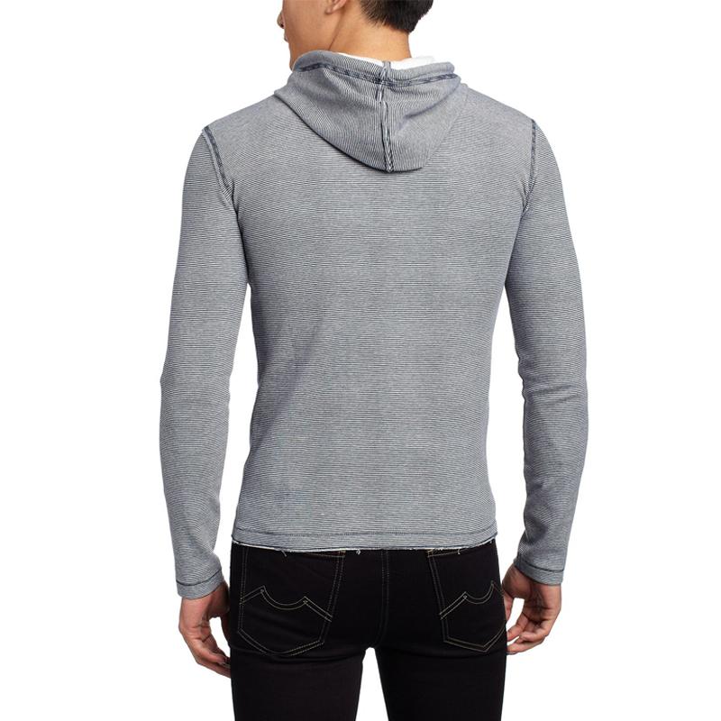 Wholesale Plain Slim Fit Men's Sweatshirt with Hooded