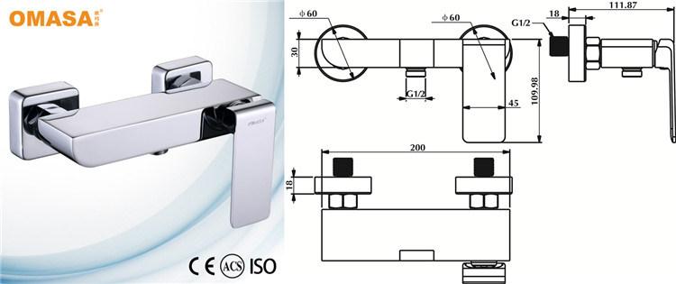 Contemporary New Design Brass Bath Tub Faucet for Bathroom