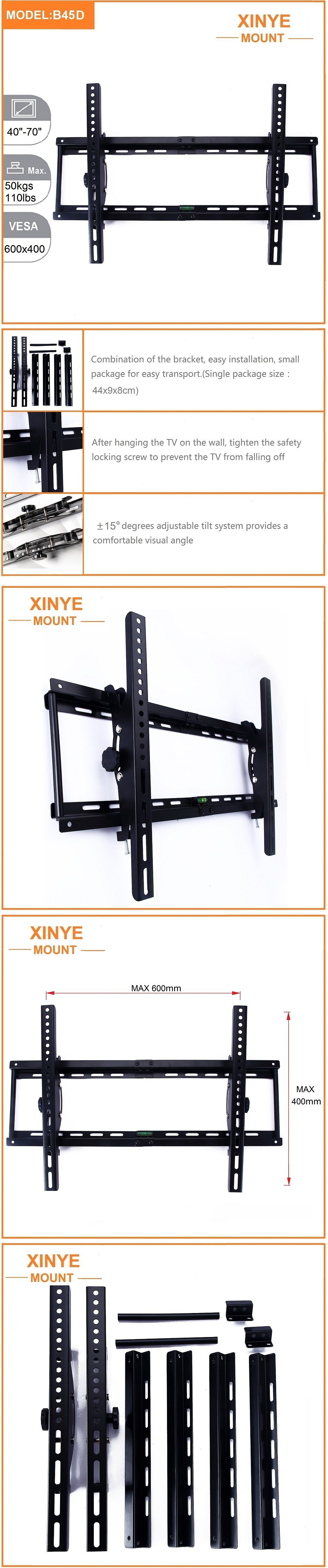 B45D New Design Combination TV Bracket for 40-70 Inch