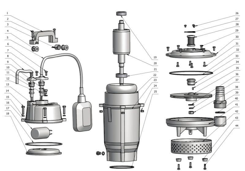 220V/60Hz 1.0HP Submersible Pump (QDX1.5-32-0.75)