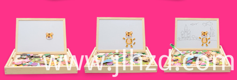 Wooden magnetic toy