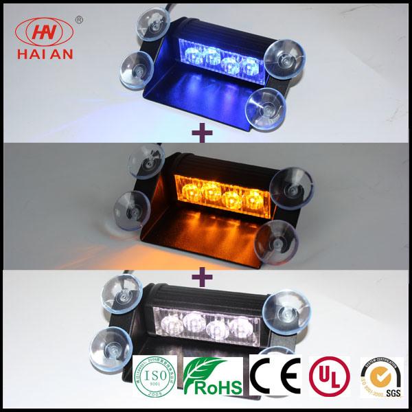Hot Sales Switch Three 3 Colors Amber Strobe LED Visor Light/Car Interior LED Warning Flash Advisor/Traffic Signal Dash Light