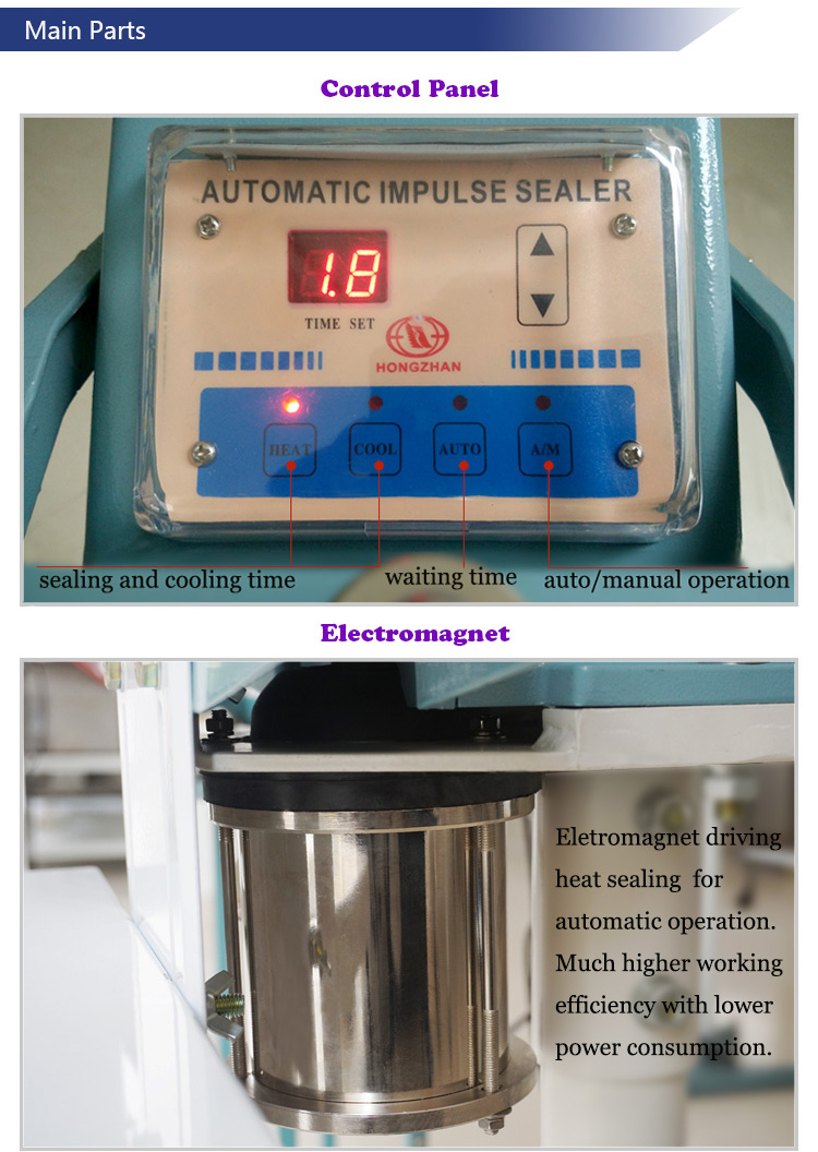 Automatic Electric Magnetic and Cylinder Pedal Sealing Machine with Manual Operation and Ce Certificate for Packing Bags and Film