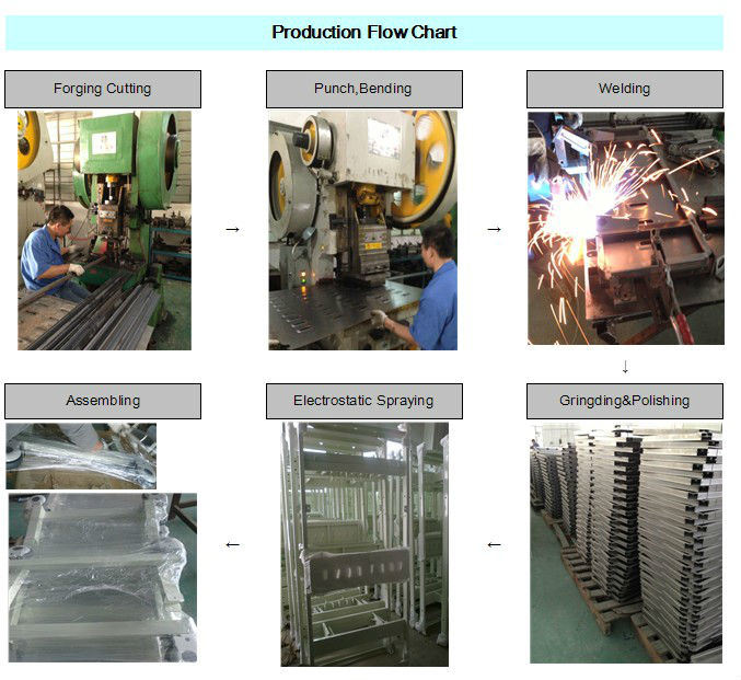 Four Cranks Manual Hospital Bed Medical Production