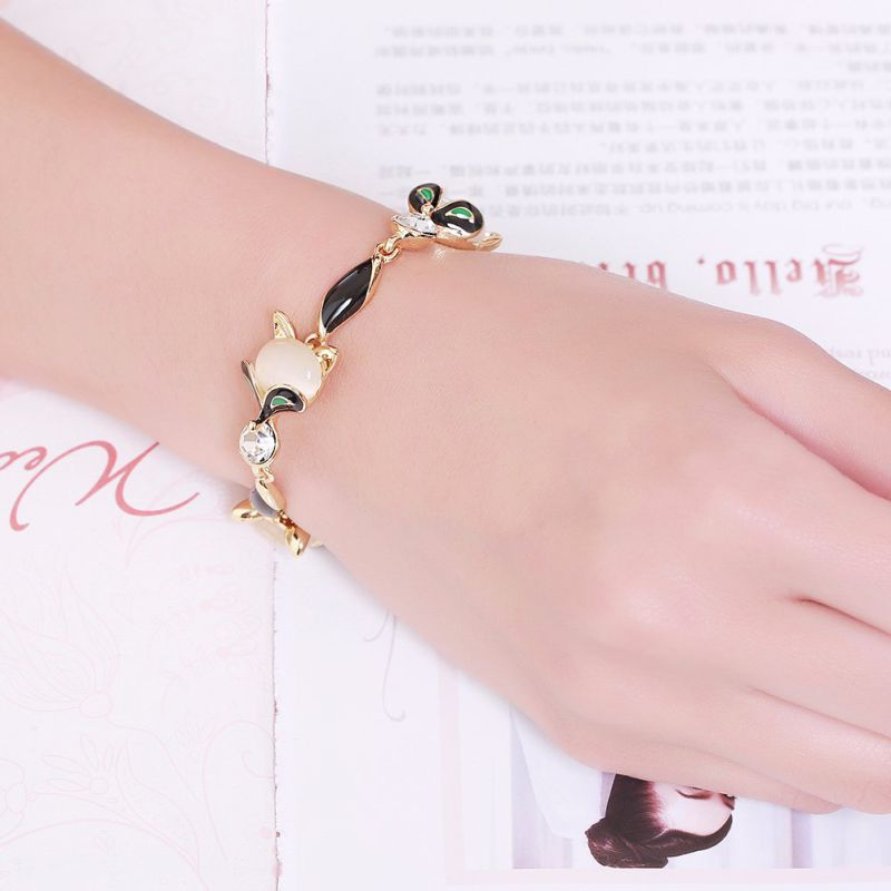 Fashion Stone Women Bracelet 18k Gold Plated Bracelet Jewelry
