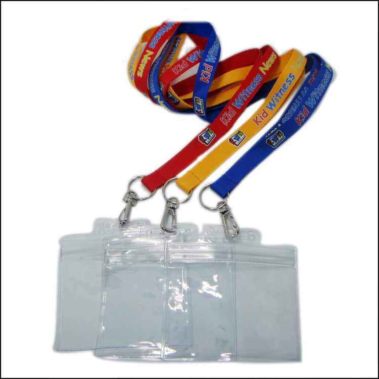Colorful Logo Polyester Lanyards with PVC Card for Name Card Holder