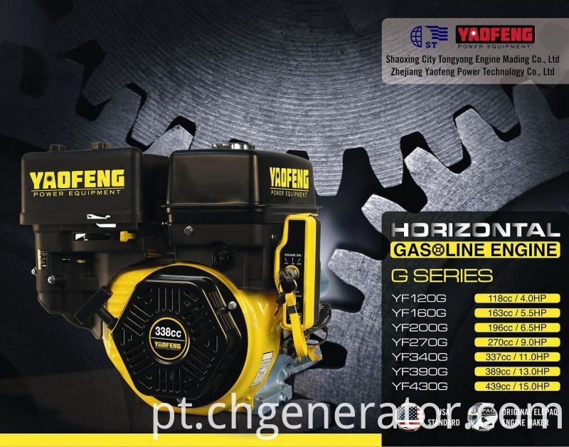 163cc 5.5HP Gasoline Engine with EPA, Carb, Ce, Soncap Certificate (YF160G)