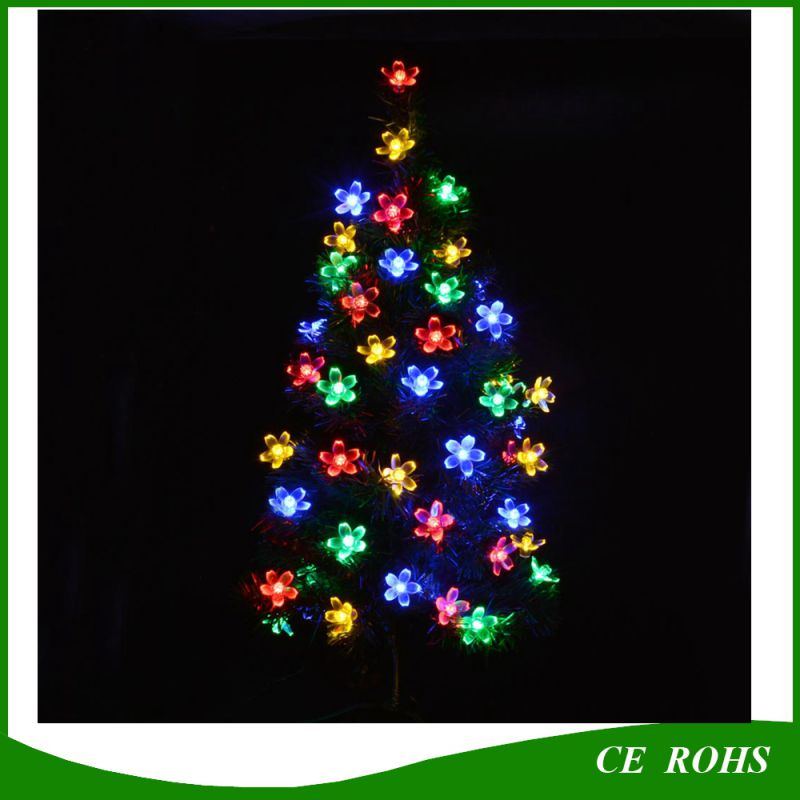 Outdoor Solar String Lights 21FT 50 LED Blossom Flower Fairy Light for Garden Patio Wedding Party Bedroom Christmas Decoration