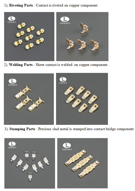 Stamping Parts Phosphorus Bronze Rivet Contact