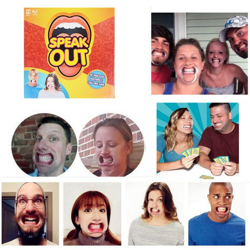 Speak Dirty Expansion Pack - The Big Mouth Challenge (Extra Mouth Pieces, Adult Phase Cards & More) - Add to Your Speak out & Watch Ya Mouth Games!